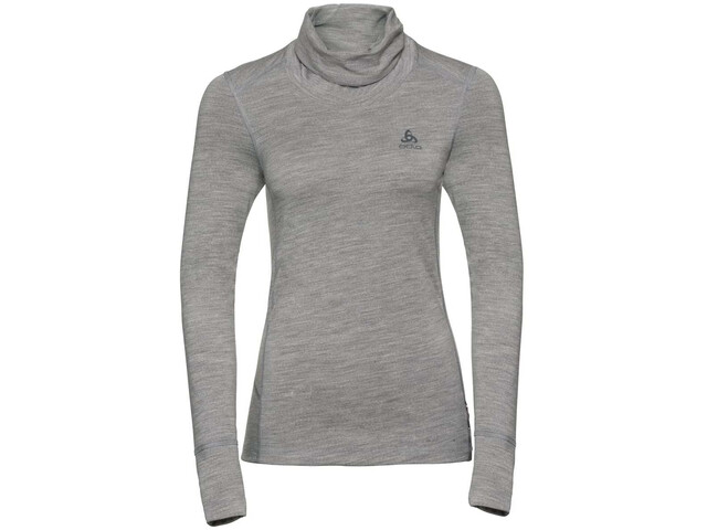 Odlo Natural 100% Merino Bl Top Turtle Neck 1/2 L/S Women, grey melange/grey melange